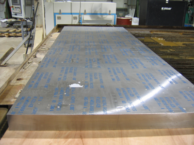 4 inch thick x 12 foot long Titanium Plate to be cut/sliced with Abrasive Waterjet